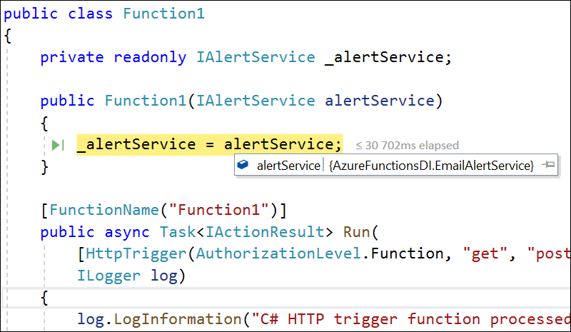 Dependency Injection in Azure Functions